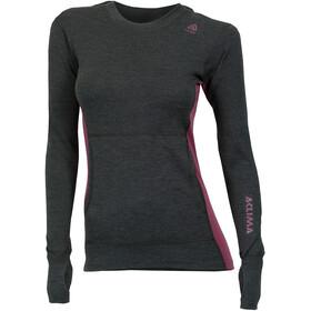 Aclima WarmWool Hood Sweater Women Marengo/Damson